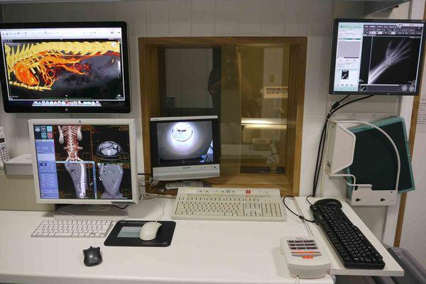 横浜 金沢区の動物病院 マーサ動物病院 医療設備 画像診断モニターデスク